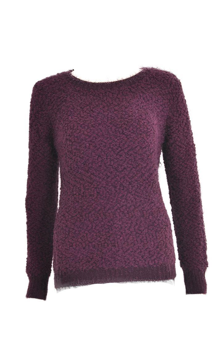 Knitting Pattern Fluffy Jumper : Fluffy Yarn Jumper
