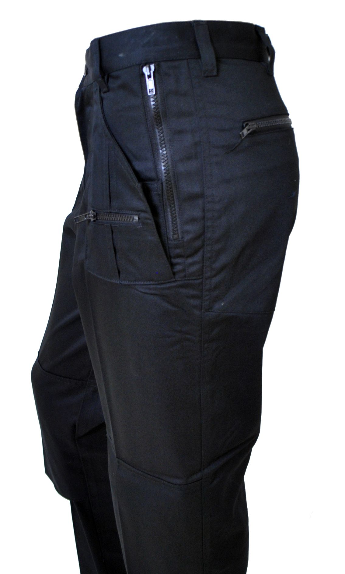 Mens Black Multi Pocket Work Trousers