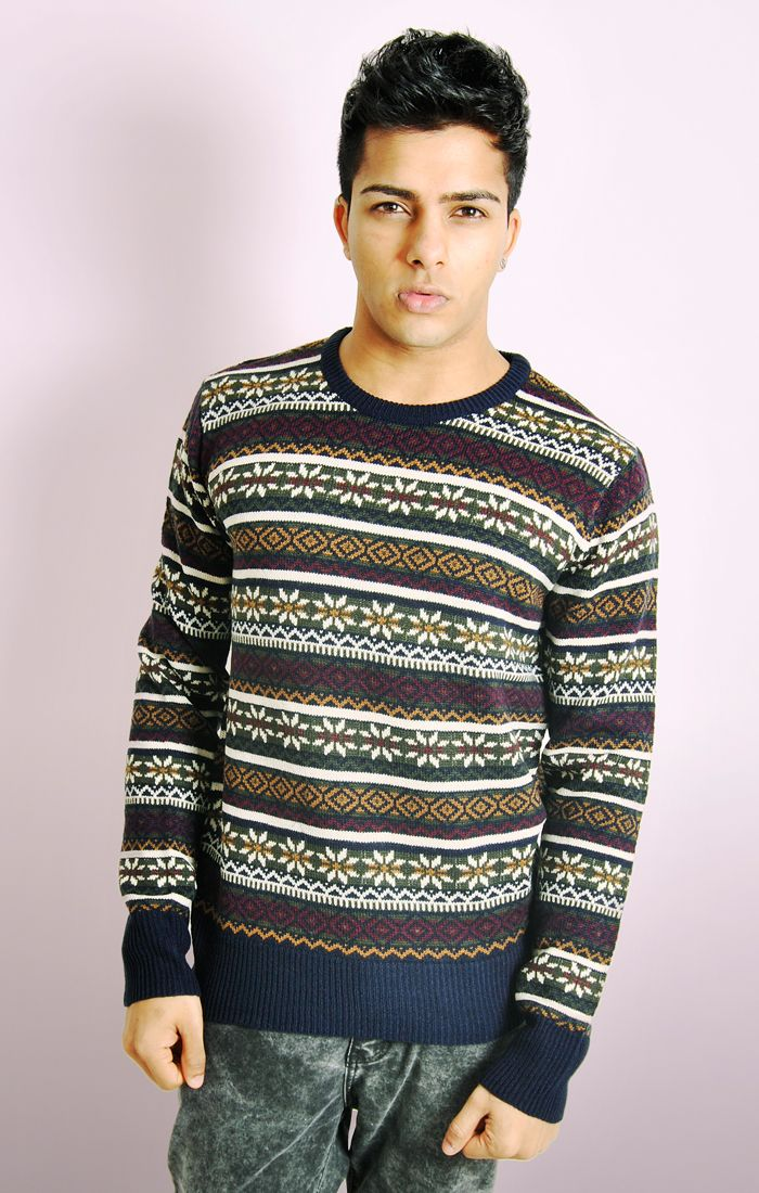 Knitting Patterns Modern Jumpers : PATTERNED KNITTED JUMPER