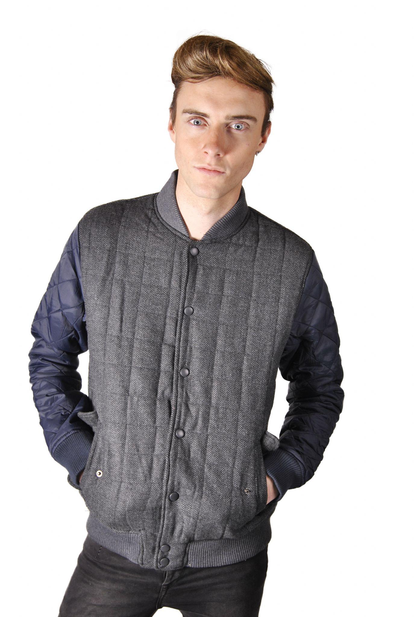 Tweed Baseball Jacket | Outdoor Jacket