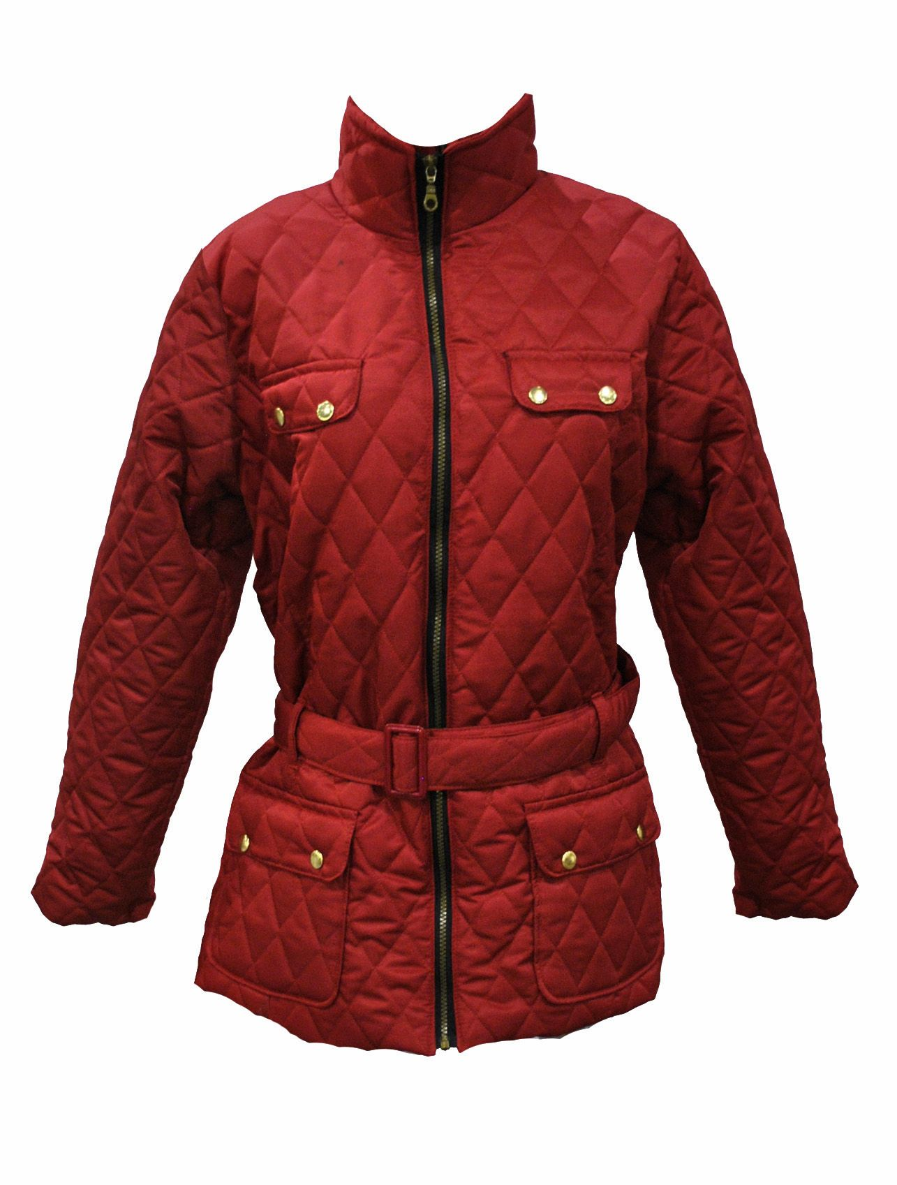 Ladies Plus Size Red Quilted Jacket